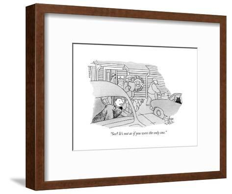 """""""See? It's not as if you were the only one."""" - New Yorker Cartoon-Rowland Wilson-Framed Art Print"""