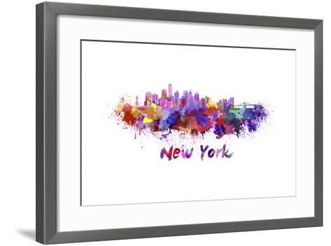New York Skyline in Watercolor-paulrommer-Framed Art Print