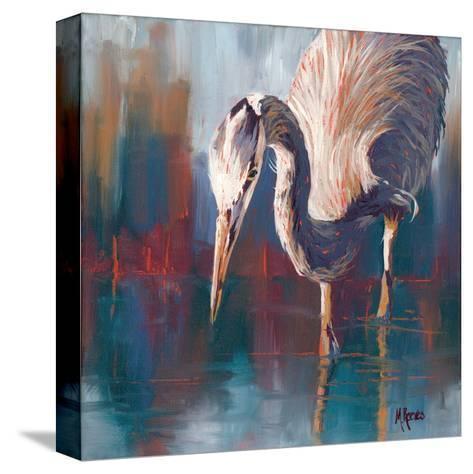 Urban Heron-Molly Reeves-Stretched Canvas Print