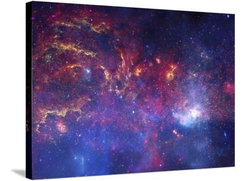 NASA's Great Observatories Examine the Galactic Center Region Space Photo Art Poster Print--Stretched Canvas Print
