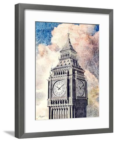 Distressed London-Roozbeh-Framed Art Print