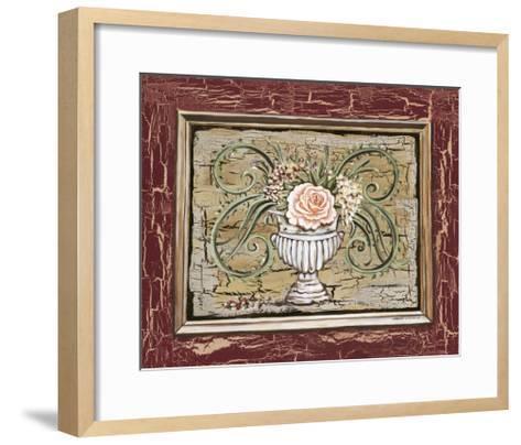 Antique White Vase III-Carolee Vitaletti-Framed Art Print