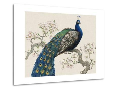 Peacock and Blossoms I-Tim O'toole-Metal Print