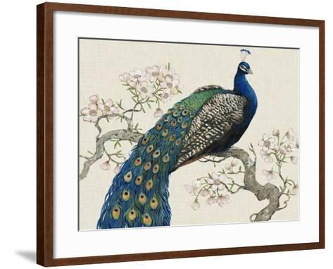 Peacock and Blossoms I-Tim O'toole-Framed Art Print