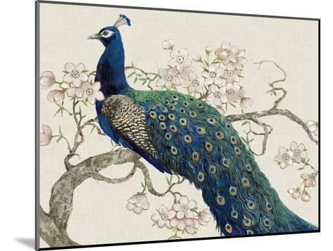 Peacock and Blossoms II-Tim O'toole-Mounted Art Print
