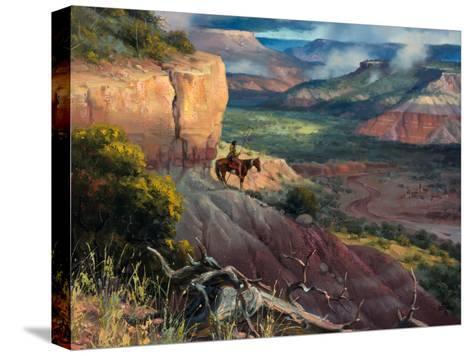 Camp Along the Timbercreek-Jack Sorenson-Stretched Canvas Print