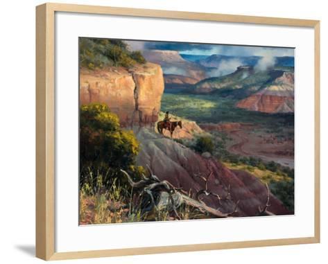 Camp Along the Timbercreek-Jack Sorenson-Framed Art Print