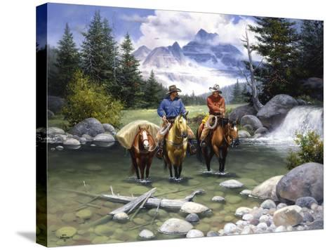 Clear Water Crossing-Jack Sorenson-Stretched Canvas Print