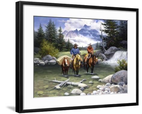 Clear Water Crossing-Jack Sorenson-Framed Art Print