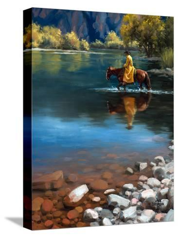 Shallow Crossing-Jack Sorenson-Stretched Canvas Print