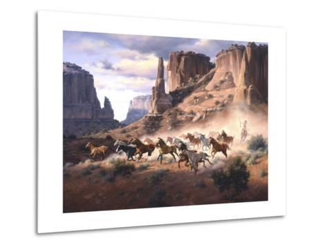 Sandstone and Stolen Horses-Jack Sorenson-Metal Print
