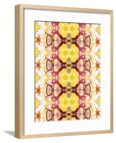 Watercolor Quilt V-Jennifer Goldberger-Framed Art Print