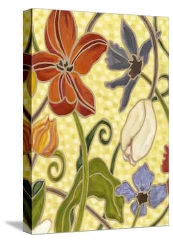 Mini Sunny Garden I (2-Up)-Karen Deans-Stretched Canvas Print