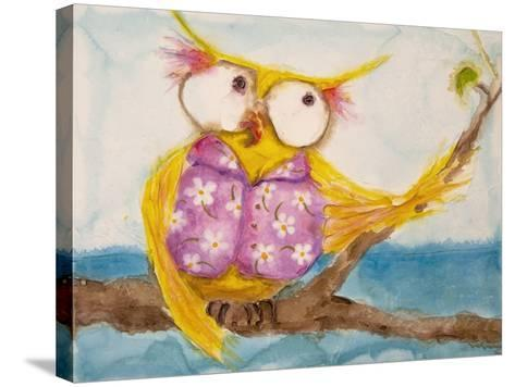 Mr. Hoo in Paradise-Marabeth Quin-Stretched Canvas Print