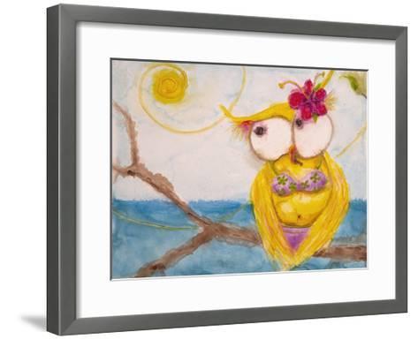 Ms. Hoo in Paradise-Marabeth Quin-Framed Art Print