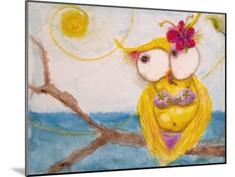 Ms. Hoo in Paradise-Marabeth Quin-Mounted Art Print