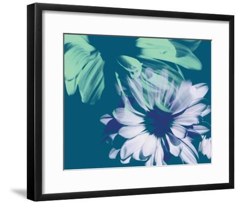 Teal Bloom I-A. Project-Framed Art Print