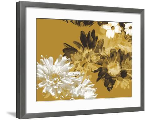 Golden Bloom I-A. Project-Framed Art Print