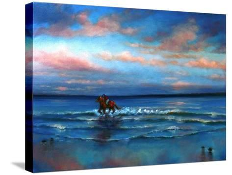 Wave Racing 2013-Lee Campbell-Stretched Canvas Print