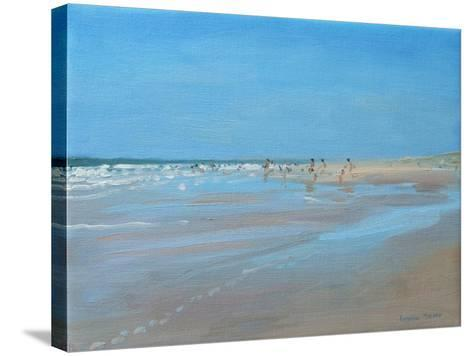 Blue Reflection, Montalivet-Andrew Macara-Stretched Canvas Print