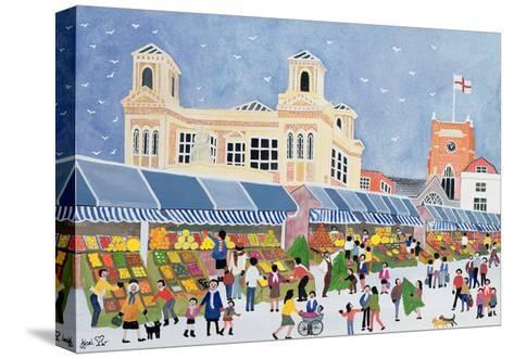 Kingston Market, Surrey-Judy Joel-Stretched Canvas Print