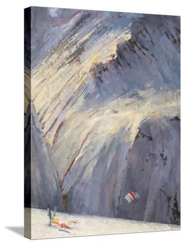Depths - Val D'Isere-Bob Brown-Stretched Canvas Print