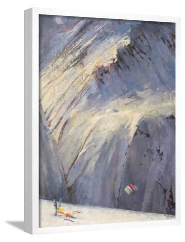 Depths - Val D'Isere-Bob Brown-Framed Art Print