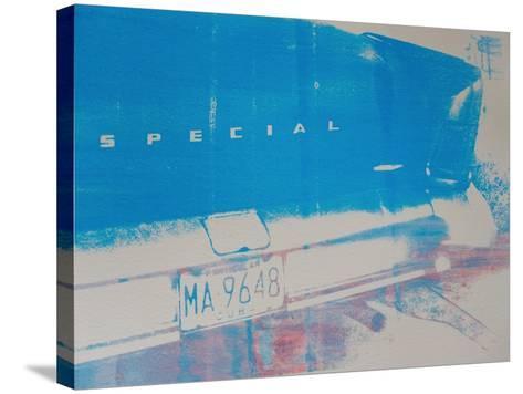 Blue Car-David Studwell-Stretched Canvas Print