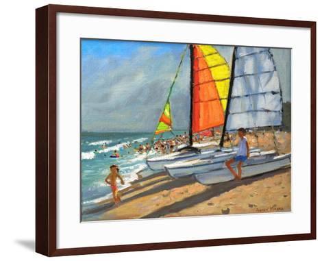 Sailboats, Garrucha, Spain-Andrew Macara-Framed Art Print