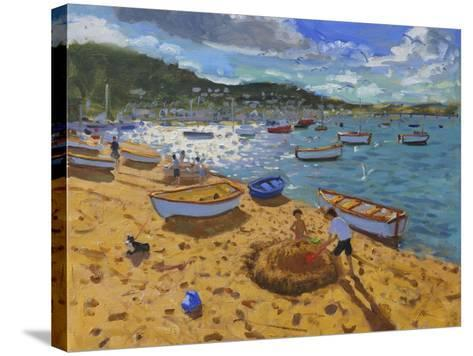 Large Sandcastle,Teignmouth, 2013-Andrew Macara-Stretched Canvas Print