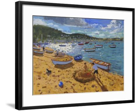 Large Sandcastle,Teignmouth, 2013-Andrew Macara-Framed Art Print