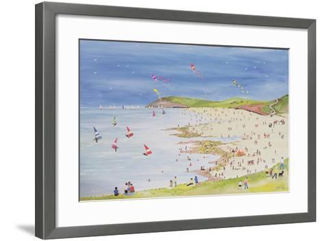 Cliffs and Bay-Judy Joel-Framed Art Print