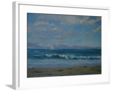 Thurlestone Beach-Jennifer Wright-Framed Art Print