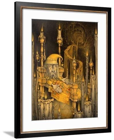 The Man in the Moon-Wayne Anderson-Framed Art Print