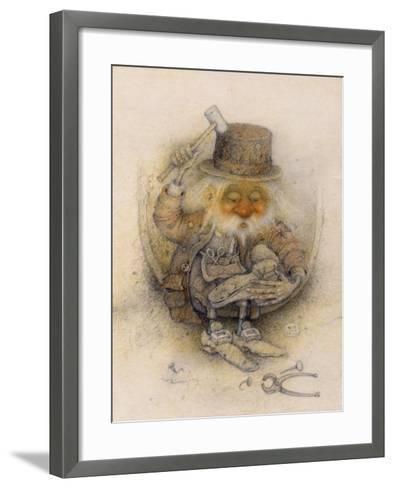 Leprechaun Cobbler-Wayne Anderson-Framed Art Print