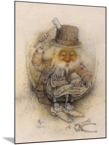 Leprechaun Cobbler-Wayne Anderson-Mounted Giclee Print