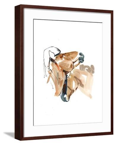 Nuzzle (Przewalski), 2013-Mark Adlington-Framed Art Print
