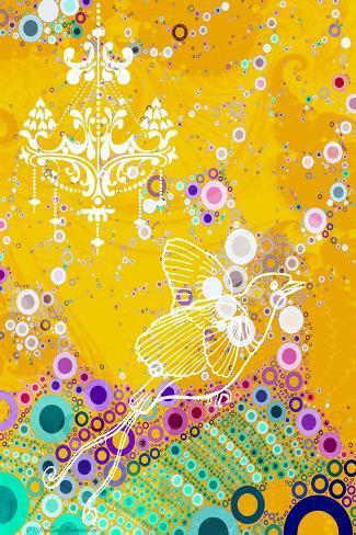 Classy Bird, 2014-AlyZen Moonshadow-Stretched Canvas Print