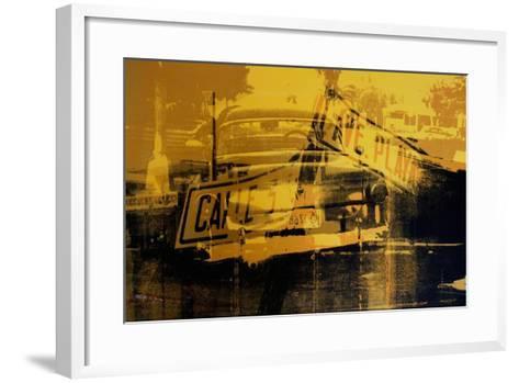 Yellow Car and Street Sign-David Studwell-Framed Art Print