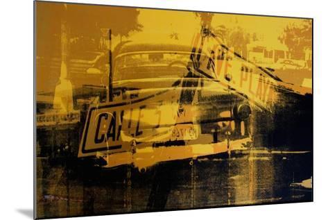 Yellow Car and Street Sign-David Studwell-Mounted Giclee Print