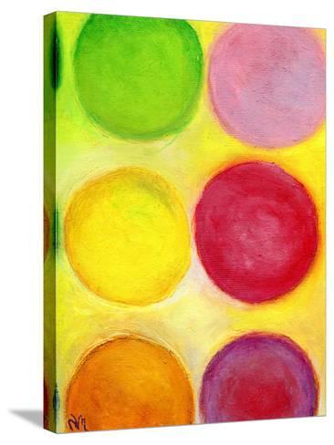 The Happy Dots 1, 2014-Nancy Moniz-Stretched Canvas Print