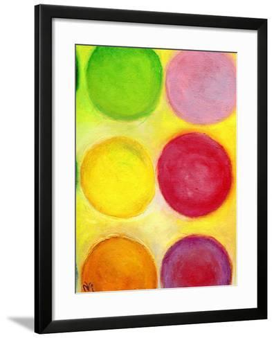 The Happy Dots 1, 2014-Nancy Moniz-Framed Art Print
