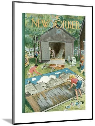 The New Yorker Cover - June 2, 1951-Garrett Price-Mounted Premium Giclee Print