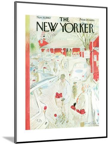 The New Yorker Cover - November 10, 1962-Garrett Price-Mounted Premium Giclee Print