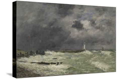 Coup de vent ? Frascati, Le Havre-Eug?ne Boudin-Stretched Canvas Print