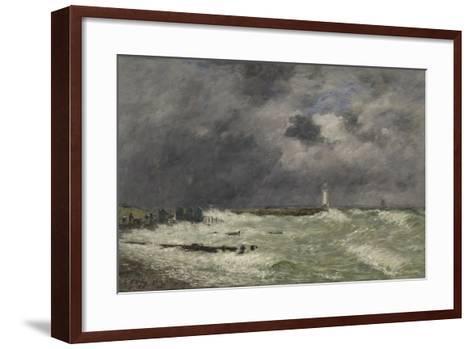 Coup de vent ? Frascati, Le Havre-Eug?ne Boudin-Framed Art Print