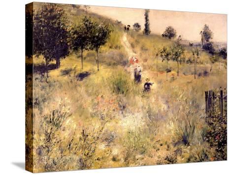 Chemin montant dans les hautes herbes-Pierre-Auguste Renoir-Stretched Canvas Print