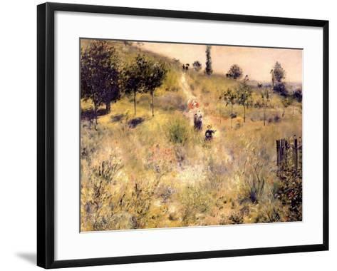 Chemin montant dans les hautes herbes-Pierre-Auguste Renoir-Framed Art Print