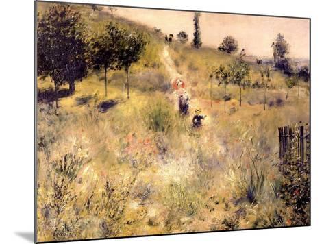 Chemin montant dans les hautes herbes-Pierre-Auguste Renoir-Mounted Giclee Print