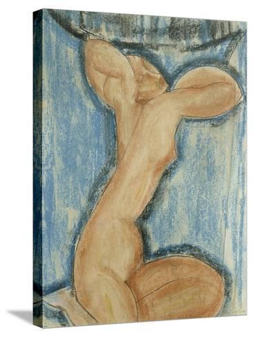 Cariatide-Amedeo Modigliani-Stretched Canvas Print